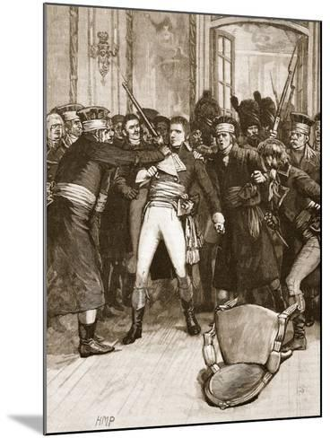 Napoleon's Coup De Main: Scene in the Hall of the Ancients--Mounted Giclee Print