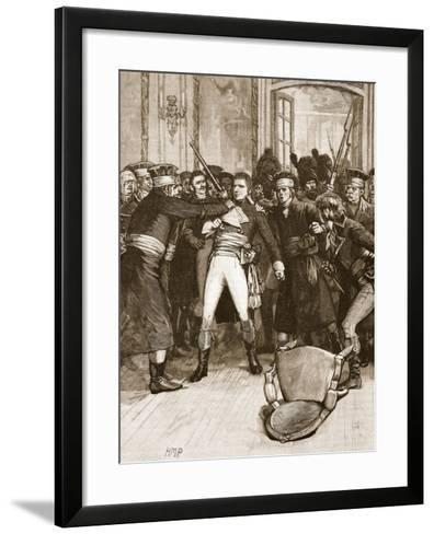 Napoleon's Coup De Main: Scene in the Hall of the Ancients--Framed Art Print