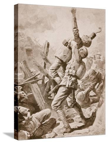 A 'Splendid Scrum' at Bazentin-Le-Petit, July 14th, 1916--Stretched Canvas Print