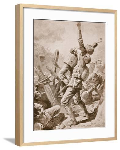 A 'Splendid Scrum' at Bazentin-Le-Petit, July 14th, 1916--Framed Art Print