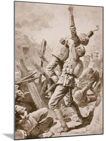 A 'Splendid Scrum' at Bazentin-Le-Petit, July 14th, 1916--Mounted Giclee Print