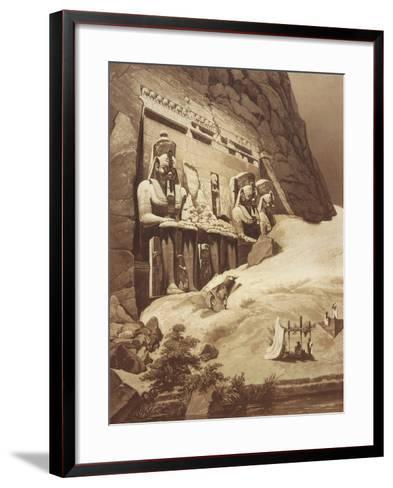 The Great Temple, Panorama D'Egypte Et De Nubia Abu Simbel--Framed Art Print