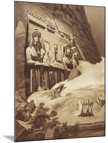 The Great Temple, Panorama D'Egypte Et De Nubia Abu Simbel--Mounted Giclee Print