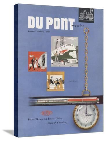 Railroads, Front Cover of the 'Dupont Magazine', January-February 1949--Stretched Canvas Print