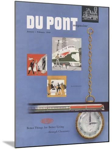 Railroads, Front Cover of the 'Dupont Magazine', January-February 1949--Mounted Giclee Print