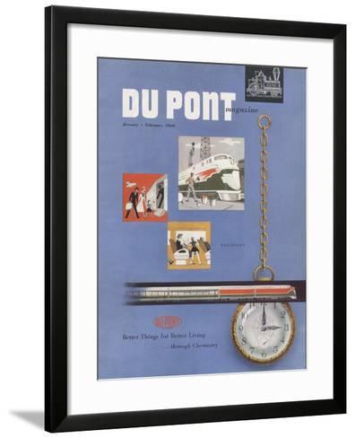 Railroads, Front Cover of the 'Dupont Magazine', January-February 1949--Framed Art Print