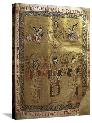 Constantine IX Monomakh, His Wife Zoe of Byzantium and Byzantine Empress Theodora of Byzantium--Stretched Canvas Print