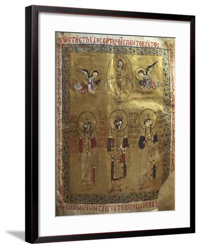 Constantine IX Monomakh, His Wife Zoe of Byzantium and Byzantine Empress Theodora of Byzantium--Framed Art Print