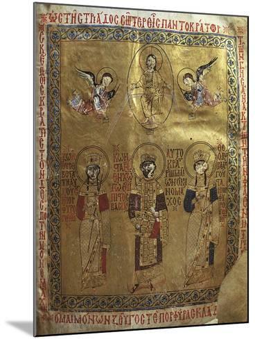 Constantine IX Monomakh, His Wife Zoe of Byzantium and Byzantine Empress Theodora of Byzantium--Mounted Giclee Print