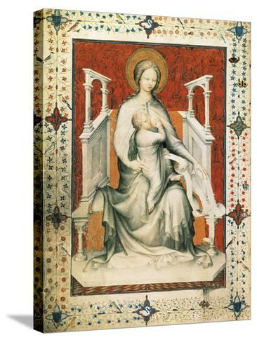 Madonna and Child, Miniature from the Very Rich Hours of the Duke of Berry, France 15th Century--Stretched Canvas Print
