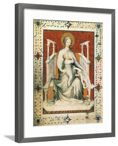 Madonna and Child, Miniature from the Very Rich Hours of the Duke of Berry, France 15th Century--Framed Art Print