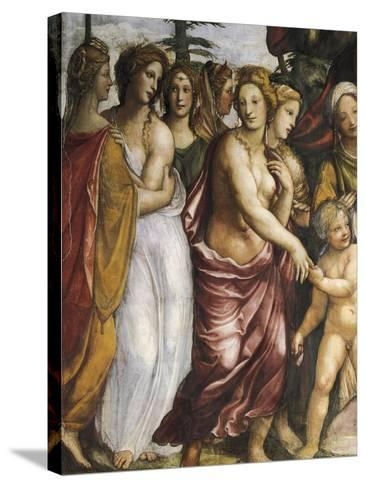 Dario's Mother Begging Alexander the Great--Stretched Canvas Print