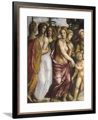 Dario's Mother Begging Alexander the Great--Framed Art Print