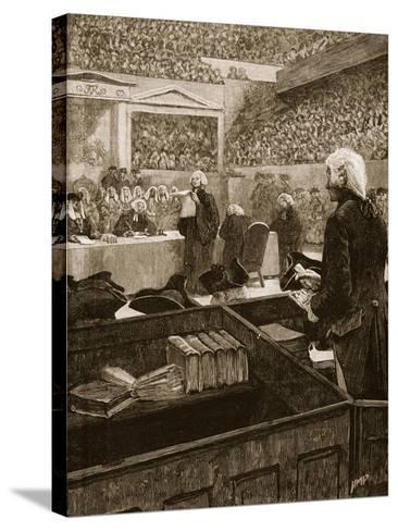 The Trial of Warren Hastings, Illustration from 'Cassell's Illustrated History of England'--Stretched Canvas Print