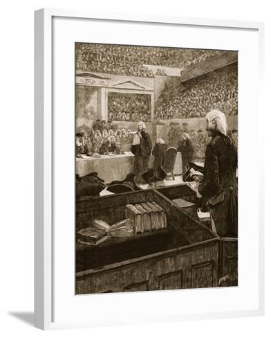 The Trial of Warren Hastings, Illustration from 'Cassell's Illustrated History of England'--Framed Art Print