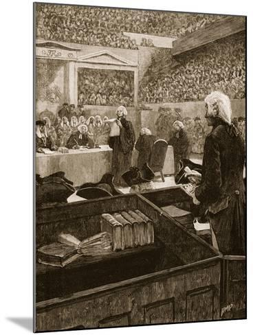 The Trial of Warren Hastings, Illustration from 'Cassell's Illustrated History of England'--Mounted Giclee Print