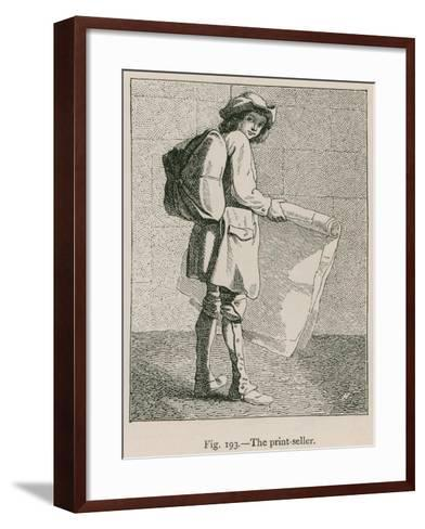 The Print-Seller--Framed Art Print