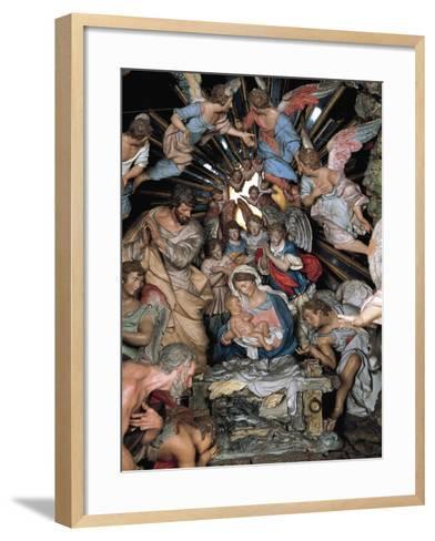 Nativity, Nativity Scene of Marquis of Belas, Work by Machado De Castro--Framed Art Print