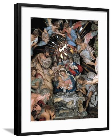 Nativity, Nativity Scene of Marquis of Belas, Work by Machado De Castro--Framed Art Print