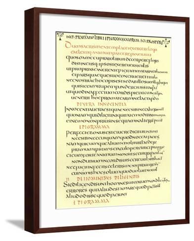 Page from the Epigrams of St Prosper--Framed Art Print