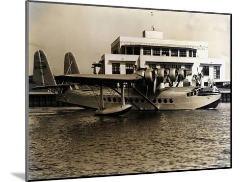 A Seaplane at the Pan Am Seaplane Base, Dinner Key, Florida, 1930s--Mounted Photographic Print