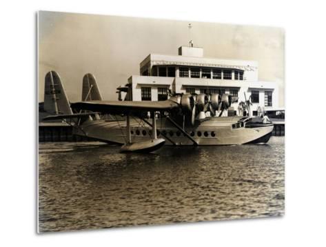 A Seaplane at the Pan Am Seaplane Base, Dinner Key, Florida, 1930s--Metal Print