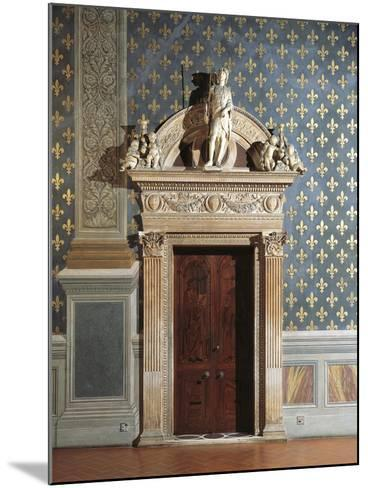 Door of Hall of Justice, Palazzo Vecchio, Florence, Italy--Mounted Giclee Print