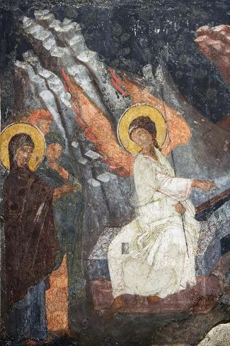 Christ Risen Indicating the Tomb of Virgin in Church of Sveta Petka Samardzijska, Sofia, Bulgaria--Stretched Canvas Print