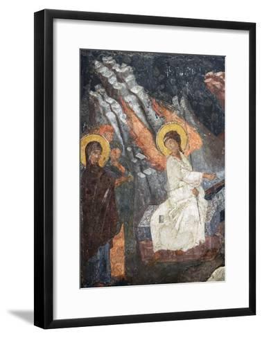 Christ Risen Indicating the Tomb of Virgin in Church of Sveta Petka Samardzijska, Sofia, Bulgaria--Framed Art Print