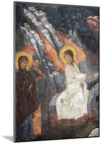 Christ Risen Indicating the Tomb of Virgin in Church of Sveta Petka Samardzijska, Sofia, Bulgaria--Mounted Giclee Print