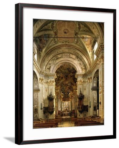 Interior of Basilica of Assumption Including High Altar, Sacred Mountain of Varallo Sesia, Italy--Framed Art Print