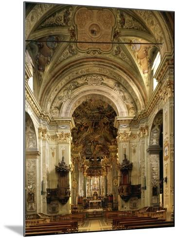Interior of Basilica of Assumption Including High Altar, Sacred Mountain of Varallo Sesia, Italy--Mounted Giclee Print