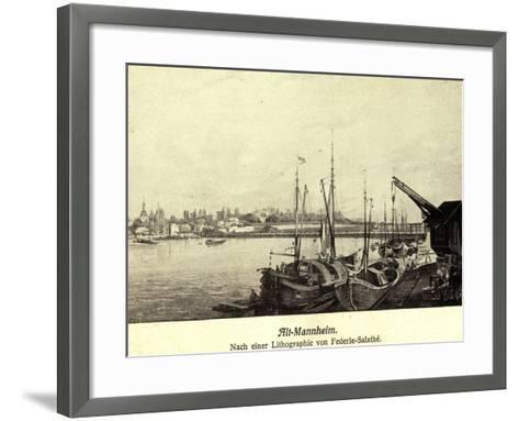 Künstler Federle, Salathé, Mannheim, Altstadt, Hafen--Framed Art Print