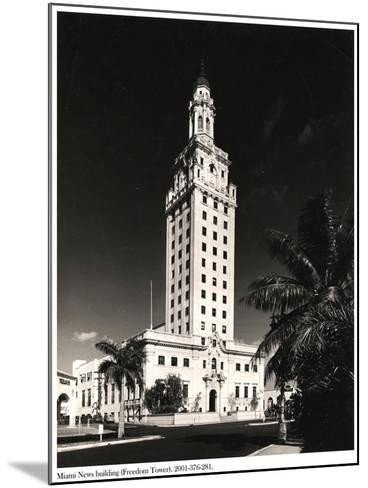 Freedom Tower, Miami--Mounted Photographic Print