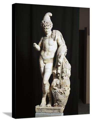 Marble Statue of Attis from Sanctuary of Sarsina, Emilia Romagna Region, Italy--Stretched Canvas Print