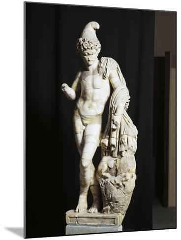 Marble Statue of Attis from Sanctuary of Sarsina, Emilia Romagna Region, Italy--Mounted Giclee Print