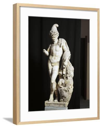 Marble Statue of Attis from Sanctuary of Sarsina, Emilia Romagna Region, Italy--Framed Art Print