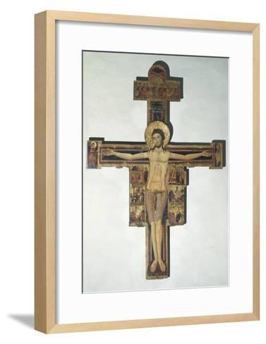 Crucifixion and Stories of Passion--Framed Art Print