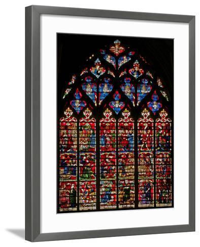 Window W236 Depicting Scenes from the Story of Daniel--Framed Art Print