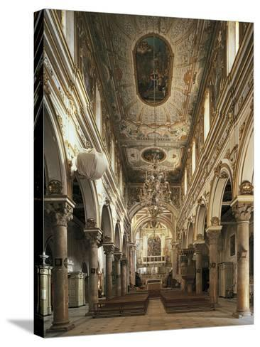 Nave of Cathedral of Matera--Stretched Canvas Print