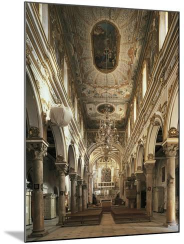 Nave of Cathedral of Matera--Mounted Photographic Print