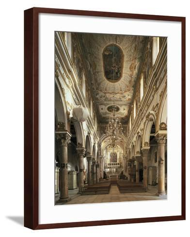 Nave of Cathedral of Matera--Framed Art Print