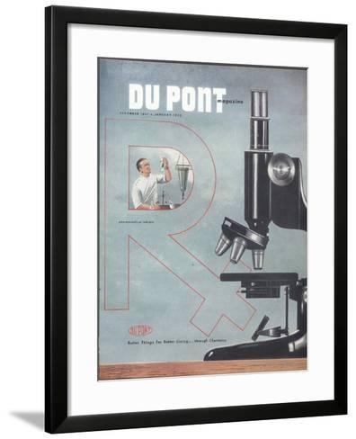 Pharmaceutical Industry, Front Cover of the 'Dupont Magazine', December 1951-January 1952--Framed Art Print