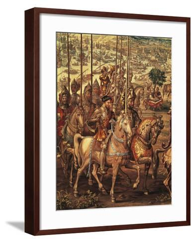 Charles V Reviewing His Troops at Barcelona Prior to His Expedition Against Tunis--Framed Art Print