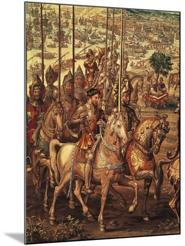 Charles V Reviewing His Troops at Barcelona Prior to His Expedition Against Tunis--Mounted Giclee Print