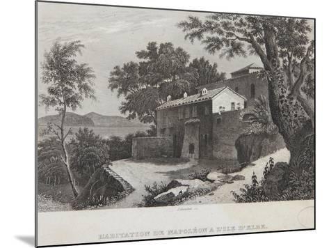 The House of Napoleon on the Island of Elba--Mounted Giclee Print