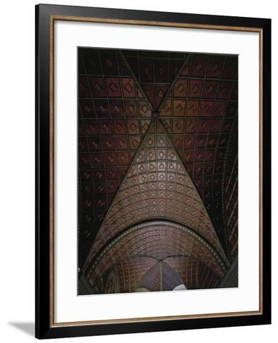 Glimpse of Ceiling with Intarsia--Framed Art Print