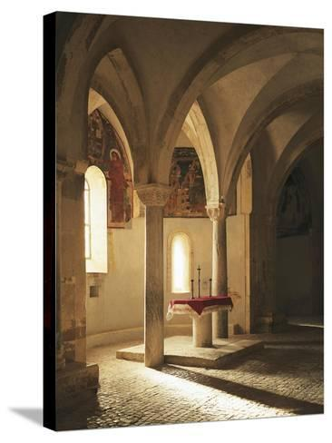 Crypt of Abbey of St John in Venus, Fossacesia, Italy, 12th Century--Stretched Canvas Print