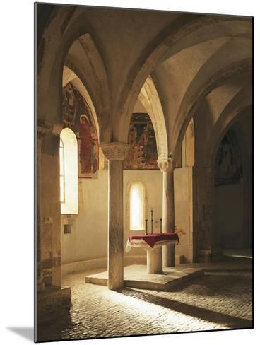 Crypt of Abbey of St John in Venus, Fossacesia, Italy, 12th Century--Mounted Giclee Print
