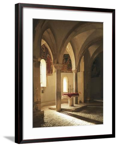 Crypt of Abbey of St John in Venus, Fossacesia, Italy, 12th Century--Framed Art Print